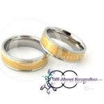 KR 246-Gold textured centre with Silver Band Rim and Comfort Fit 6mm wide band, crafted from 316 Grade Stainless Steel