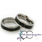 KR 247-Black textured centre with Silver Band Rim and Comfort Fit 6mm wide band,crafted from 316 Grade Stainless Steel